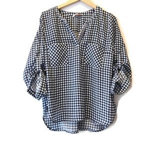 Anthropologie Skies Are Blue Gingham Top